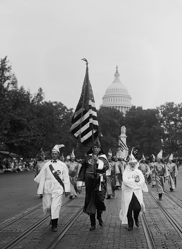 Ku_Klux_Klan_parade Washington DC